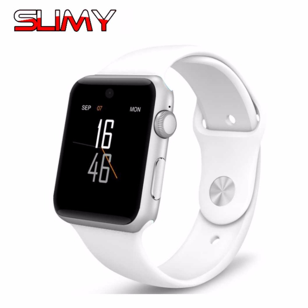 Slimy DM09 Bluetooth Smart Watch HD Screen Support SIM Card Wearable Devices Clock Hours for IOS Android System with Pedometer