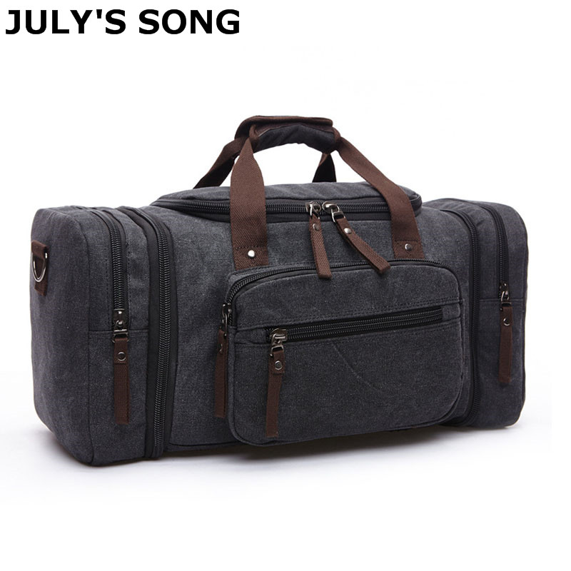 JULY'S SONG 20.8'' Large Canvas Travel Tote Luggage Men's Weekend Duffle Bag Travel Bag /Duffle Bag/Waterproof Canvas Travel Bag tegaote men travel bag zipper luggage travel duffle bag latest style large capacity male female portable waterproof travel tote