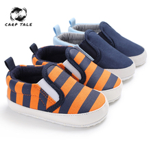 2019 Hot Sale Baby Boys Shoes Infant Slip-On First Walkers Toddler Striped Canvas Sneaker toddler moccasins  infant shoes