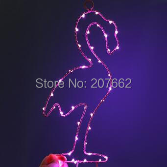 Marquee hanger night light Flamingo Heart LED Hanging Lamp Iron decorative light For Baby Bedroom Decoration Wedding Party Decor