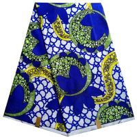 Frete grátis (6 metros/pc) bela azul royal Africano Ancara tecido cera real moda farbic para charme vestido WXD718