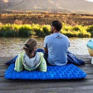 Image 2 - Naturehike Lightweight Moisture proof Air Mattress Nylon TPU Sleeping Pad Inflatable Mattress Camping Mat For 2Person NH19Z055 P