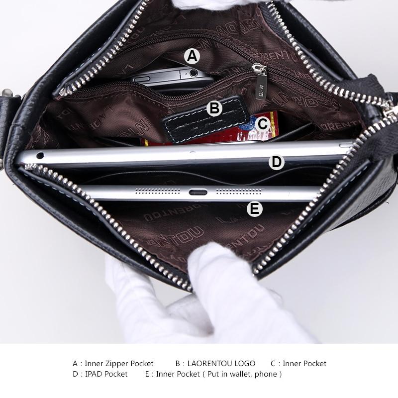 LAORENTOU Hombres de cuero genuino Business Messenger Bag Side - Bolsos - foto 5