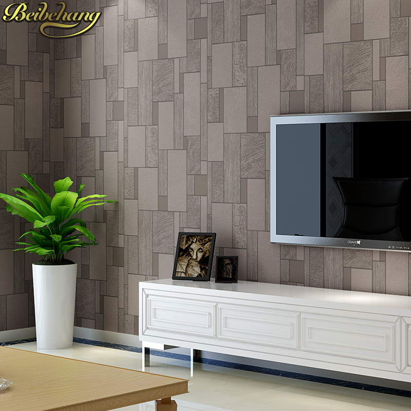 Beibehang simple mosaico papel pintado para la sala de tv - Papel pintado para pared ...
