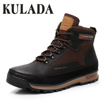 KULADA New Boots Men Winter Snow Boots Men Outdoor Activity Sneakers Boots Warm Lace Up High Top Fas