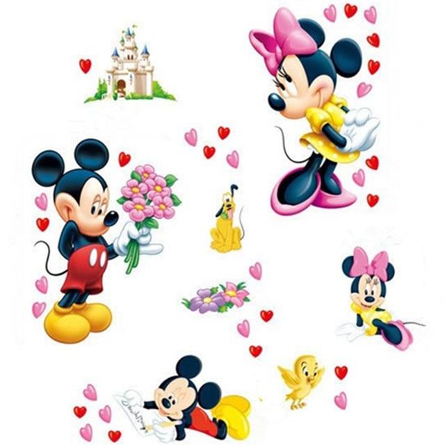 Le Encanta El Corazón Pegatinas De Pared De Mickey Mouse Mickey