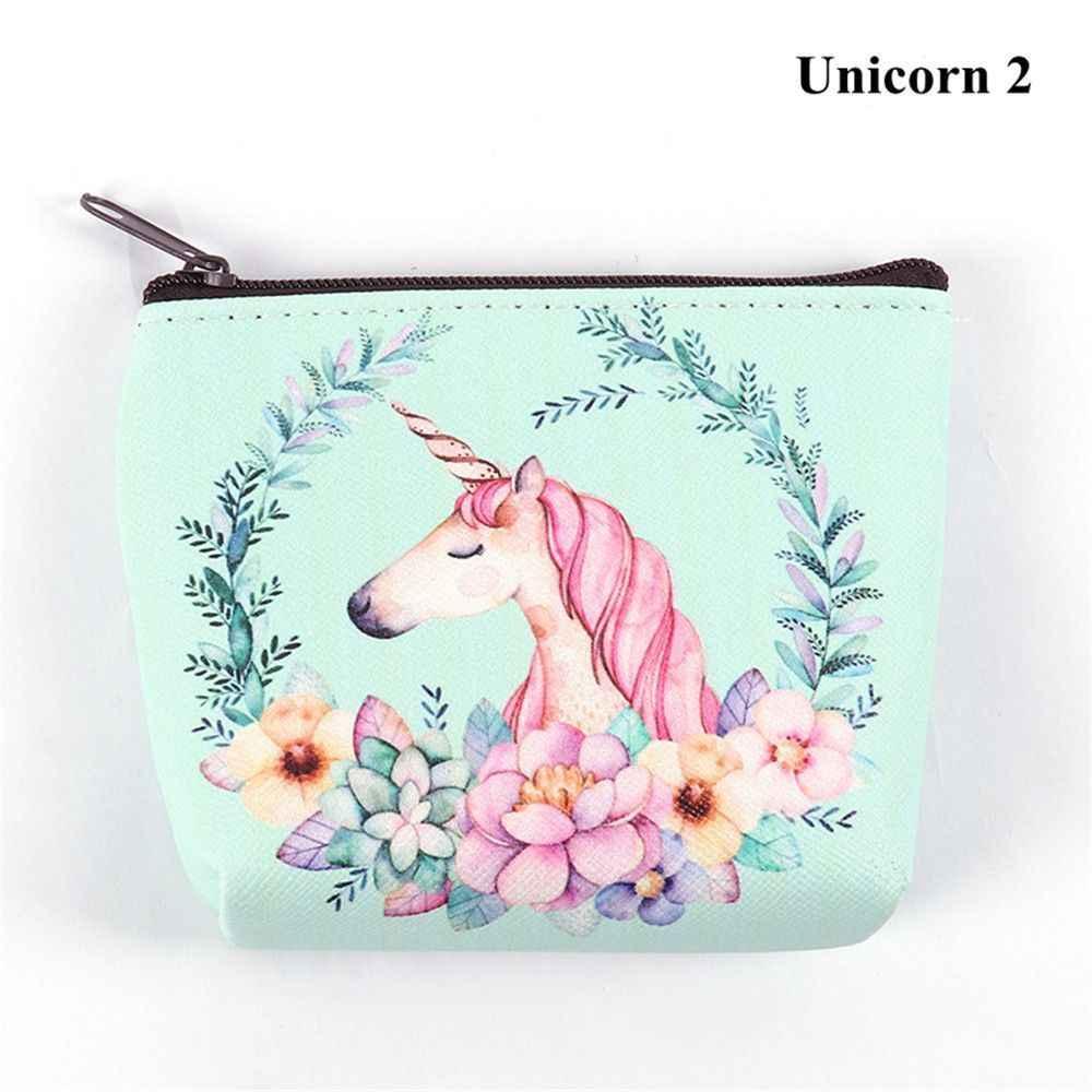 1 pcs Portátil Bonito Coin Bolsas Titular Novidade Unicorn Flamingo Mudança Carteiras Bolsa de Dinheiro Da Menina Das Mulheres Bolsa Com Zíper Frete Grátis