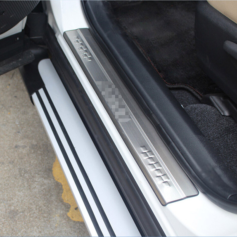 Car Styling For Toyota RAV4 <font><b>RAV</b></font> <font><b>4</b></font> 2013 <font><b>2014</b></font> 2015 2016 2017 Stainless Steel OuterDoor Sill Protector Pedal Scuff Plate Cover 4pcs image