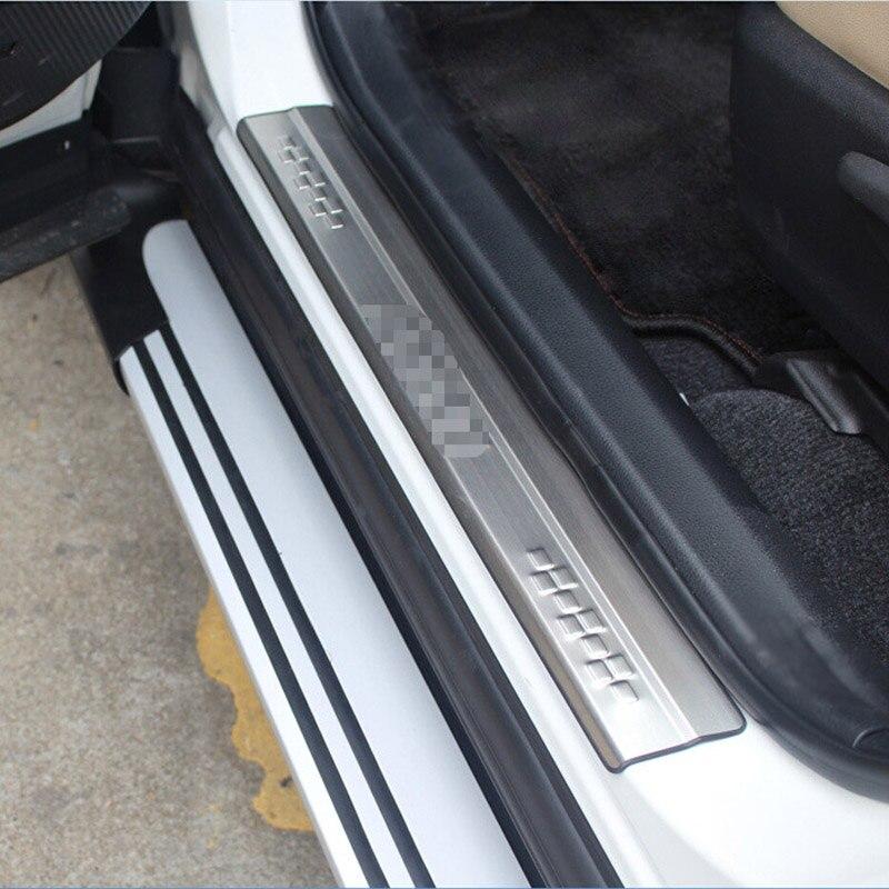 Styling de voiture Pour Toyota RAV4 RAV 4 2013 2014 2015 2016 2017 Porte En Acier Inoxydable Seuil Protecteur Pédale Plat D'usure couverture 4 pcs
