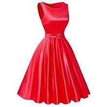 Belle Poque Jurken Women Dress Black Red Summer Audrey Hepburn 50s 60s Vintage Dresses Vestidos Plus Size Rockabilly Party Dress