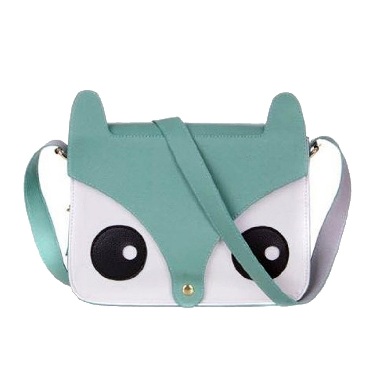 DCOS Fox Owl Shoulder Messenger Bag Pu Leather Crossbody Satchel Handbag