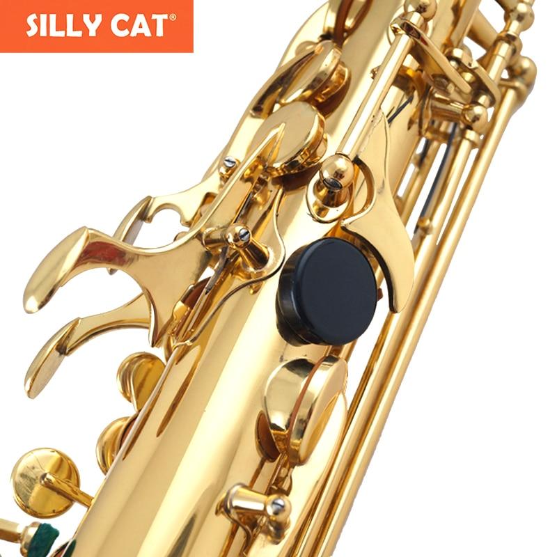 1 ცალი ექსპერტი პლასტიკური Sax მარცხენა ცერა თითი მხარს უჭერს sax თითის დასვენებას Saxophone- ს რემონტის ნაწილების აქსესუარები