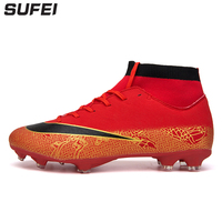 57435769496 sufei Men Superfly Soccer Shoes FG Cool Men Football Boots China High Ankle  Outdoor Athletic Training