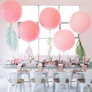 Image 3 - 10 18 36 inch Big Pastel Balloons Baby Shower Decoration Macaroon Ballons Blanc Wedding Birthday Globos Latex Air Balloon S6XZ
