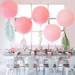 Image 3 - 10 18 36 بوصة كبيرة باستيل البالونات الطفل زينة الحمام المعكرون بالونات بلان الزفاف عيد Globos اللاتكس الهواء بالون S6XZ