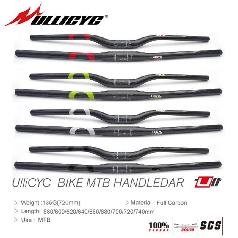 Carbon UD MTB Mountain XC AM Road Bike flat Riser bar Handlebar 31.8*580-760mm