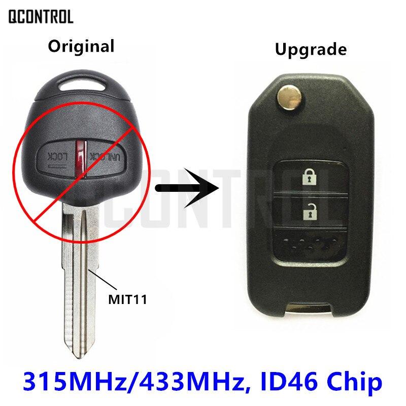 QCONTROL Remote Key Upgraded for MITSUBISHI ASX Outlander Pajero Triton Lancer 315MHz or 433Mhz Vehicle Door Lock