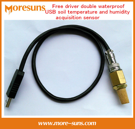 Free Ship Free driver USB soil temperature and humidity acquisition sensor double waterproof provide secondary development kit