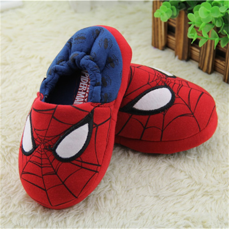 2017 spring autumn High-quality Warm Soft indoor man woman floor Slippers for boy girls kids cartoon Shoes children Cotton shoes