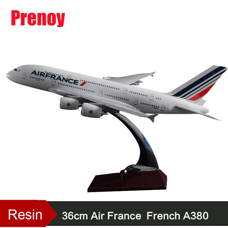 36cm Airbus A380 French Airlines Model Air France Airways Airbus Model France A380 International Airways Resin Aircraft Model fashion nordic living room bedside wall lamp porch balcony porch light solid wood creative light simple black and white