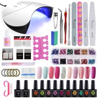 36W UV Led Nail Lamp Dryer Choose 10 Color Gel Nail Polish Kit Nail Art Tools Kit For Nail Art Gel Varnish Manicure Kit
