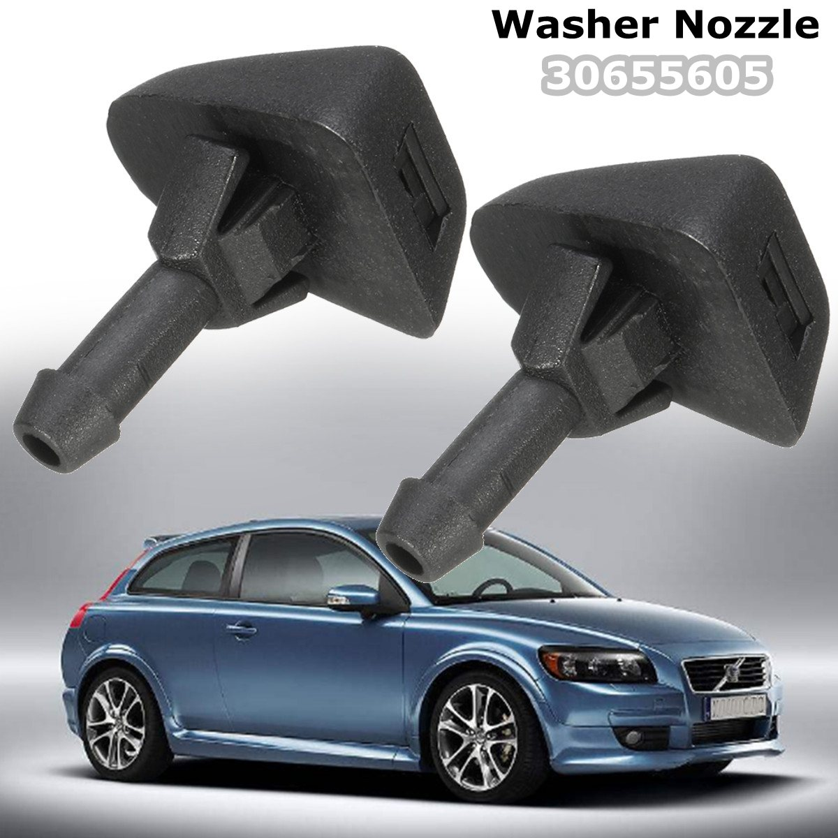2x Windscreen Washer Nozzle Squirter Jet Windshield Washer Nozzles Jet 30655605 For Volvo <font><b>XC90</b></font> C30 C70 S image