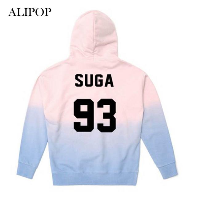 BTS WINGS Faded Blue To Pink Hoodie Hoody Sweater Sweatshirt Pullover Longsleeve