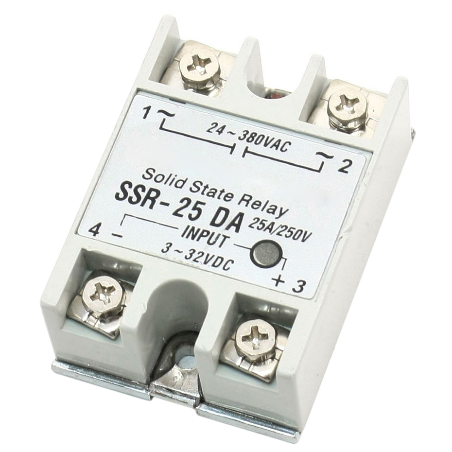 Single Phase DC Control AC Solid State Relay 25A SSR-25 DA Type free shipping mager 10pcs lot ssr mgr 1 d4825 25a dc ac us single phase solid state relay 220v ssr dc control ac dc ac