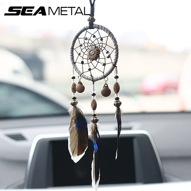 Car Pendant Ornaments Hanging Handmade Dream Catcher Indian Mirror Cool Car Decoration Accessories India