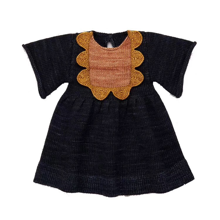 2-9Y New 2019 Spring Summer Knitted Girls Dress Half Sleeve Kids Princess Dresses for Autumn Fashion Style Girls Dress2-9Y New 2019 Spring Summer Knitted Girls Dress Half Sleeve Kids Princess Dresses for Autumn Fashion Style Girls Dress