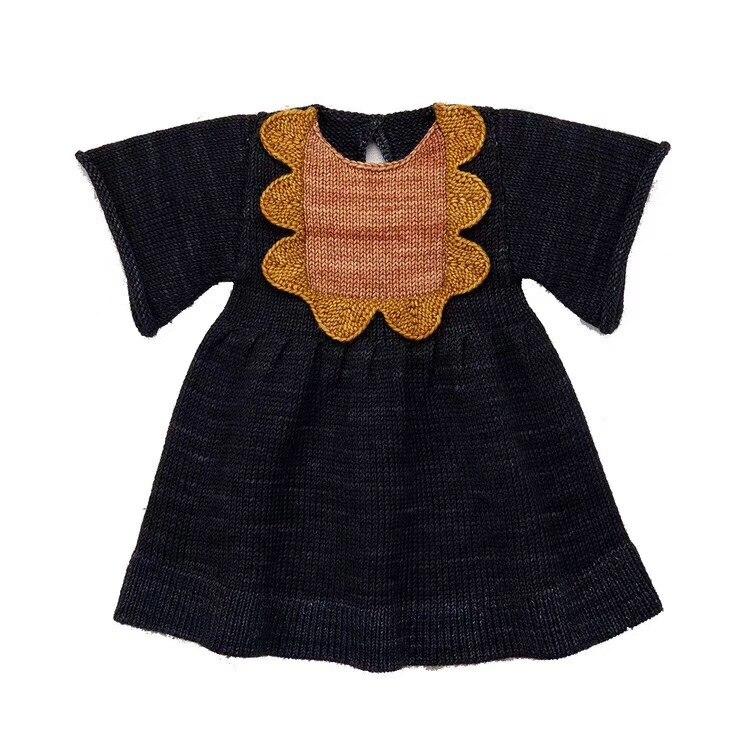 2-9Y nouveau 2019 printemps été tricoté filles robe demi manches enfants princesse robes pour automne mode Style filles robe