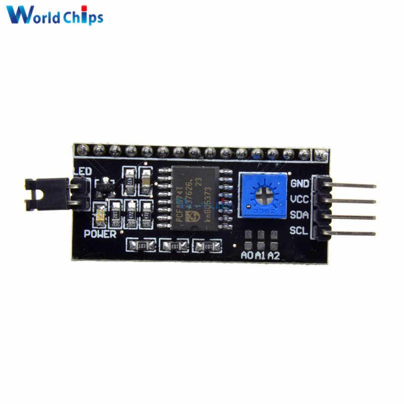 IIC/I2C/TWI/spi seri arabirim devre kartı modülü + LCD1602 1602 modülü sarı ekran 16x2 karakter lcd ekran modülü 5V arduino için