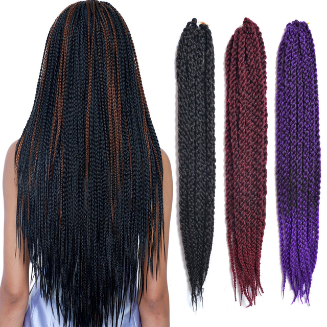 3D Ccubic Twist Crochet Braids Hair Senegalese Twist Hair Purple ...