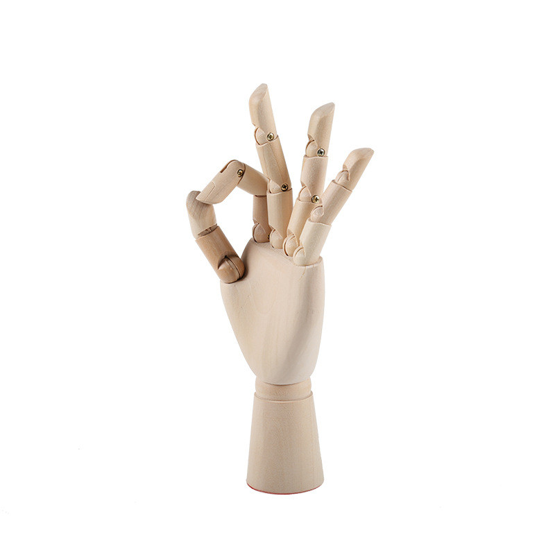 18CM 25CM 30CM Tall Wooden Hand Drawing Sketch Mannequin Model Wooden Mannequin Hand Movable Limbs Human Artist Model