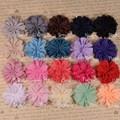 "DHL Free shipping , 1000pcs/lot , Scalloped Ballerina Twirl flowers - 2.75"" Chiffon Flowers - You Choose Colors"