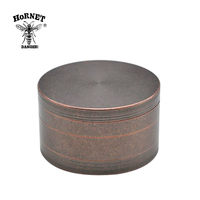 HORNET 100 MM 4 Layers Heavy Zinc Alloy Herb Grinder Tobacco Grinder Herb Crusher Spice Grinder Weed Hand Crank