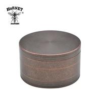 HORNET 100 MM 4 Layers Heavy Zinc Alloy Herb Grinder Tobacco Grinder Herb Crusher Spice Grinder Hand Crank