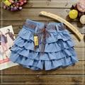 2016 Nuevos Niños Del Verano Plisadas Faldas Para Niñas GRANDES Niños Lindos de la muchacha Del Tutú Mini Faldas UN TAMAÑO Solamente