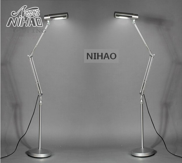 Modern Aluminum Adjule Folding Floor Lamp For Work And Study Flexible Standing Reading Light