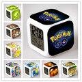 Hot Crianças Iluminação Brinquedos Figura Pokemon Pikachu Secretária Relógio Despertador Lâmpada LED Cor Piscando Reloj Display LCD Melhor para Estudante