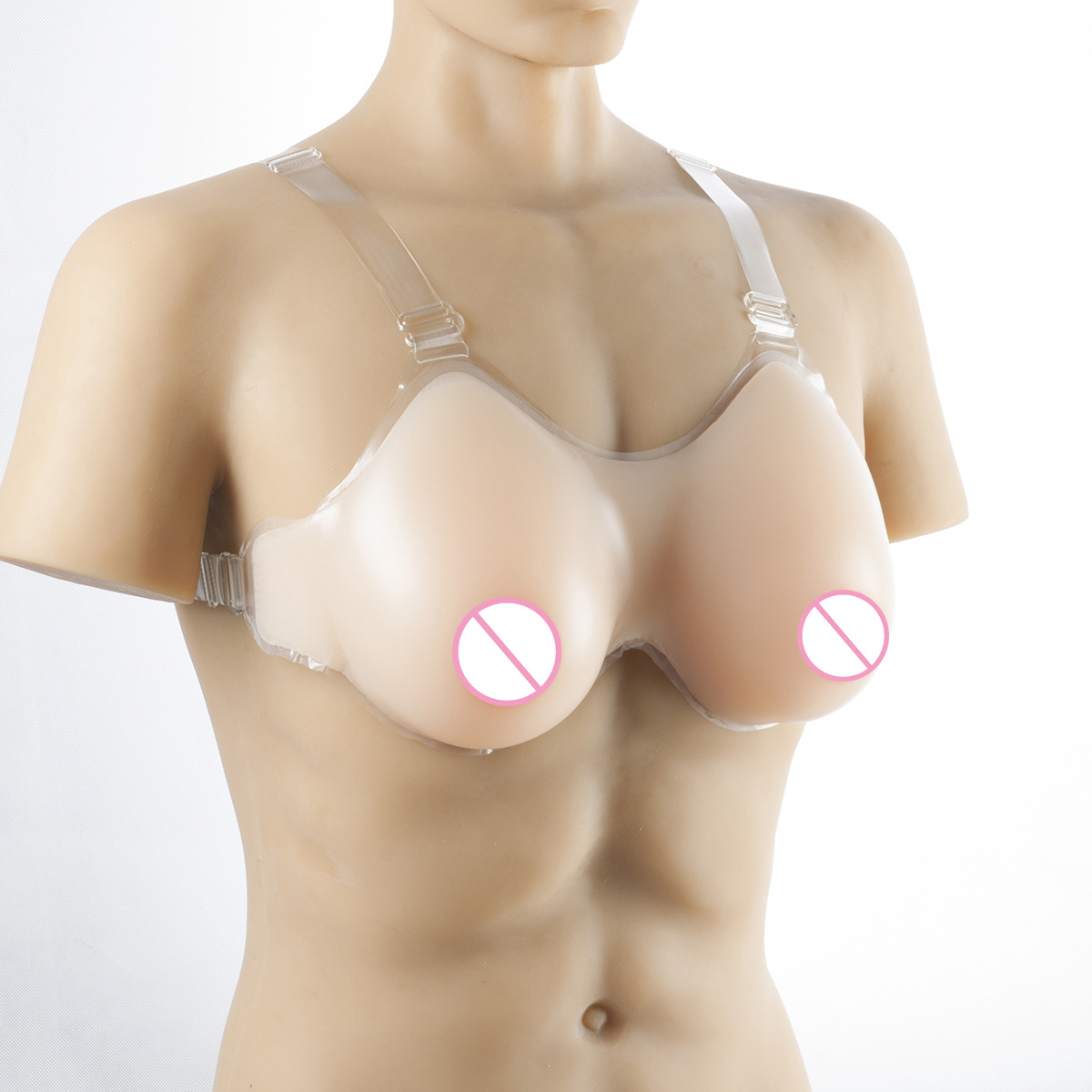 Buy 500g Cup Silicone Breast Forms Realistic Strap Fake Boobs Cosplay False Breasts Bust Enhancer Crossdresser Size S