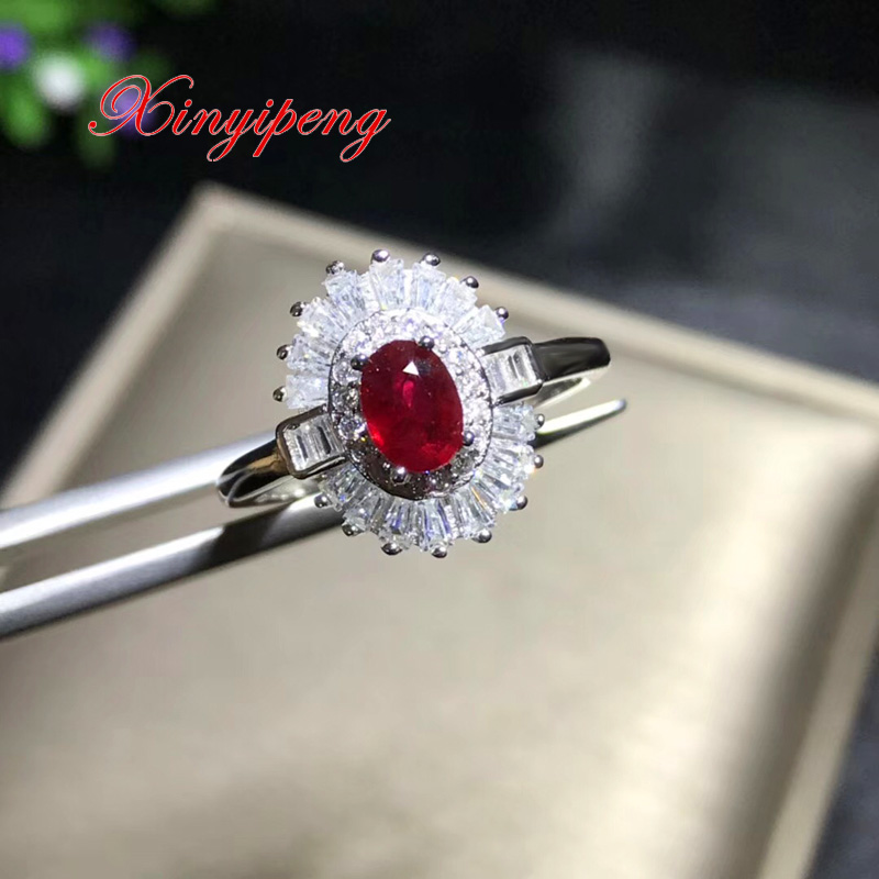 Xin yi peng 925 silver inlaid natural ruby ring, the woman ring, valentine's day gift the yijia yi 1 1 x 001