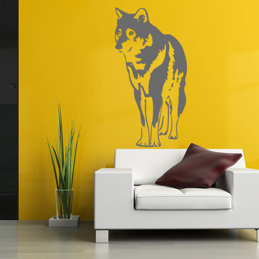 Pet Dog Wall Stickers Animal Sihouette Home Decor DIY Vinyl Adhesive ...