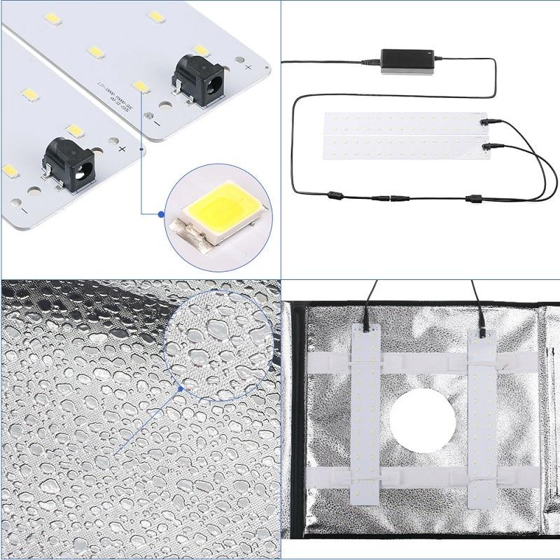 SAMTIAN 40 * 40cm LED-fotostudio Softbox Folding Fotografering - Kamera och foto - Foto 5