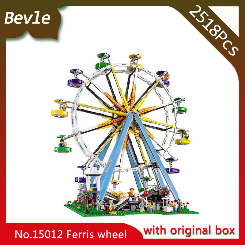 Bevle Store LEPIN 15012 2518Pcs with original box street View series Ferris wheel Building Blocks For Children Toys 10247 bevle store lepin 22001 4695pcs with original box movie series pirate ship building blocks bricks for children toys 10210 gift