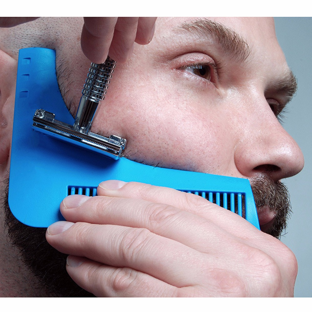 Salon Hair Trimmer Beard Comb Trim Styling Man Gentleman Beard Bro Trim Template hair cut molding Hair clipper beard model tools