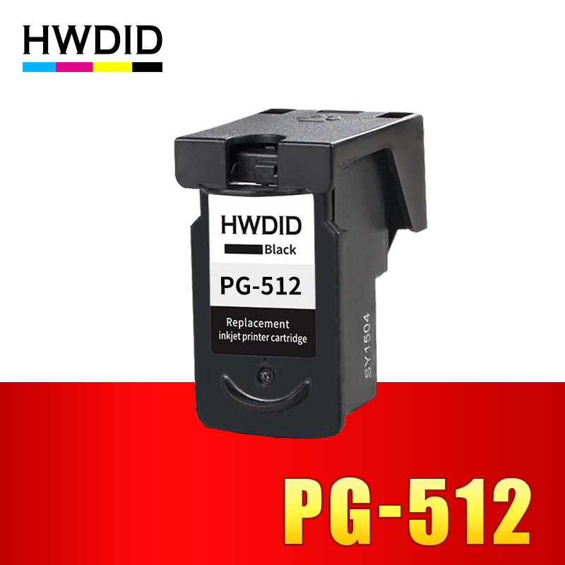 HWDID pg-512 pg512 BLACK Ink cartridge Compatible pg 512 510 for Canon Pixma IP2700 IP2702 MP280 MP282 MP330 MP480 MX320 MX330 4pack for canon 210 211 pg 210xl cl 211xl ink cartridge cartridges for canon pixma mp280 mp495 mx320 inkjet printer
