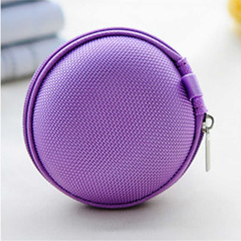 Earphone Holder Case Storage Bag Mini Zipper Hard Headphone Case Coin Purse Earbuds Memory Card Pouch Box USB Cable Organizer