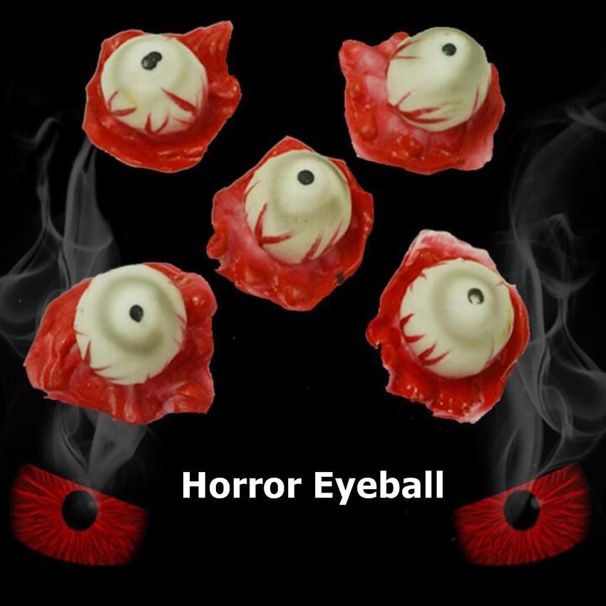 5PCS Halloween Horror Fake Eyeball Scary Body Parts Eye Horror Props Party Decor