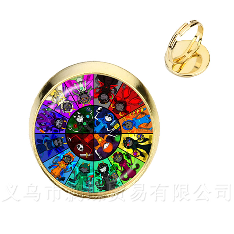 Jewelry & Accessories Bill Ciper Glass Dome Ring Classic Gravity Falls Glass Jewels Silver/golder 2 Color Adjustable Ring Women Girls Vivid And Great In Style Bracelets & Bangles